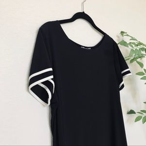 Annalee + Hope Dresses - Annalee + Hope Black and White T Shirt Style Dress